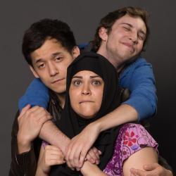clockwise from bottom: Neda Tavassoli, Evan Ohbayashi, and Connor Wanless