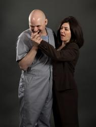Scott Schmelder as Lecter and Brandi Bigley as Clarice